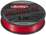 BERKLEY NANOFIL 270M 0.10MM LO-VIS RED