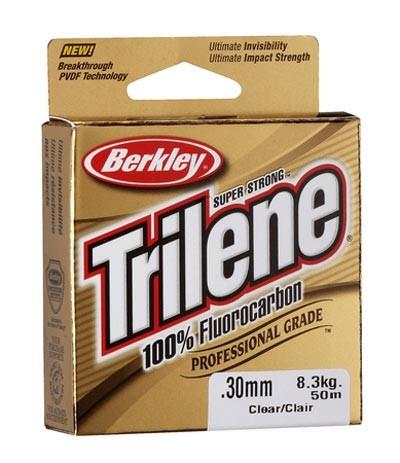 BERKLEY TRILENE 100% FLUOROCARBON - 50M, 0,14MM  FLOUROCARBON ZSINÓR