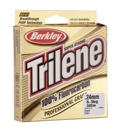 BERKLEY TRILENE 100% FLUOROCARBON - 180M, 0,14MM  FLOUROCARBON ZSINÓR
