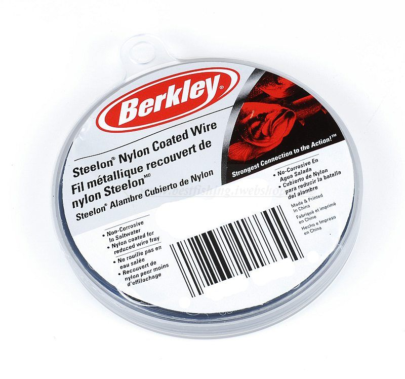 BERKLEY MC MAHON STEELON NYLON COATED WIRE 20 LB ELŐKÉK