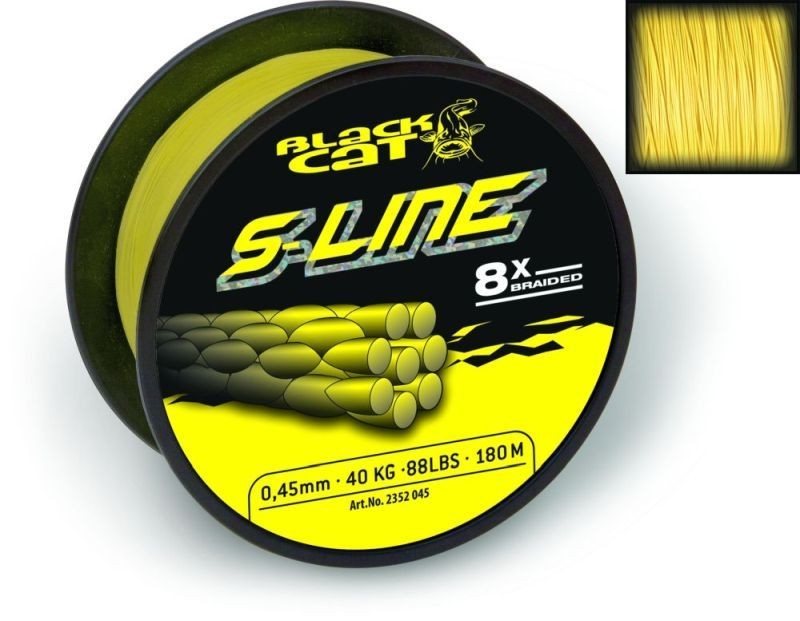 BLACK CAT S-LINE 0,55MM 450M SÁRGA FONOTT ZSINÓROK