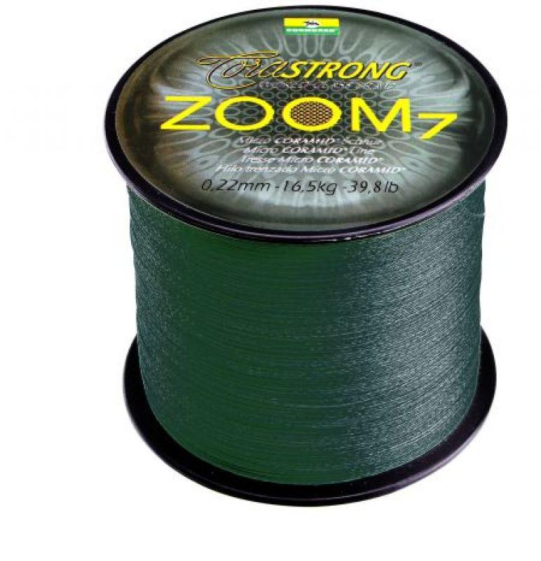 Fonott Zsinór CORMORAN CORASTRONG ZOOM7 petrol-grün 1000m 0,14mm FONOTT ZSINÓROK