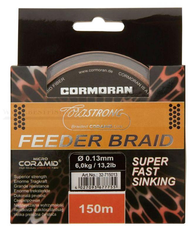 2016 CORMORAN ZSINÓR CORASTRONG FEEDER BRAID SUPER FAST SINKING 0,10 MM 150M FONOTT ZSINÓROK