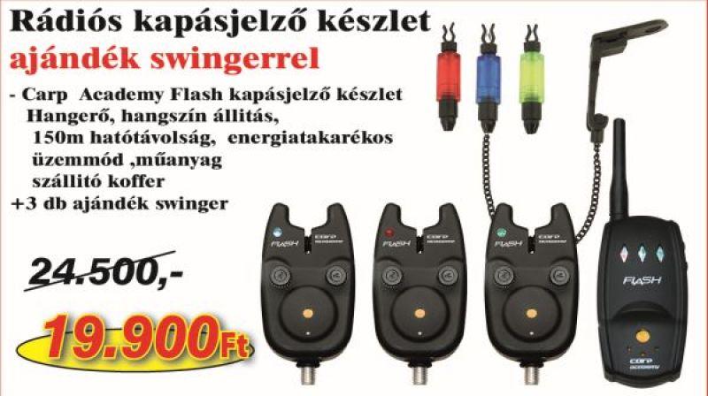 Flash kapásjelző készlet 3+1 + 6361-001+ 6361-002 + 6361-003 (KB-457)-kapásjelző szett AKCIÓS SZETTEK