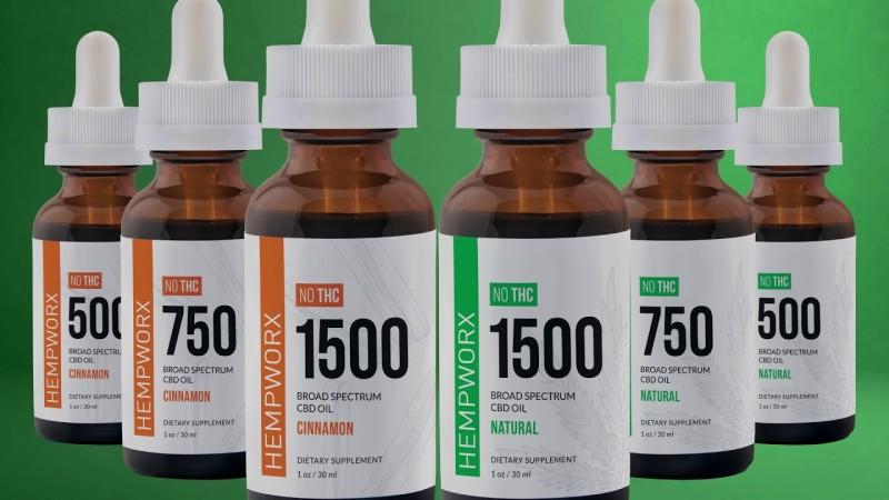 HempWorx THC mentes CBD olaj 1500mg -narancsos CBD OLAJOK