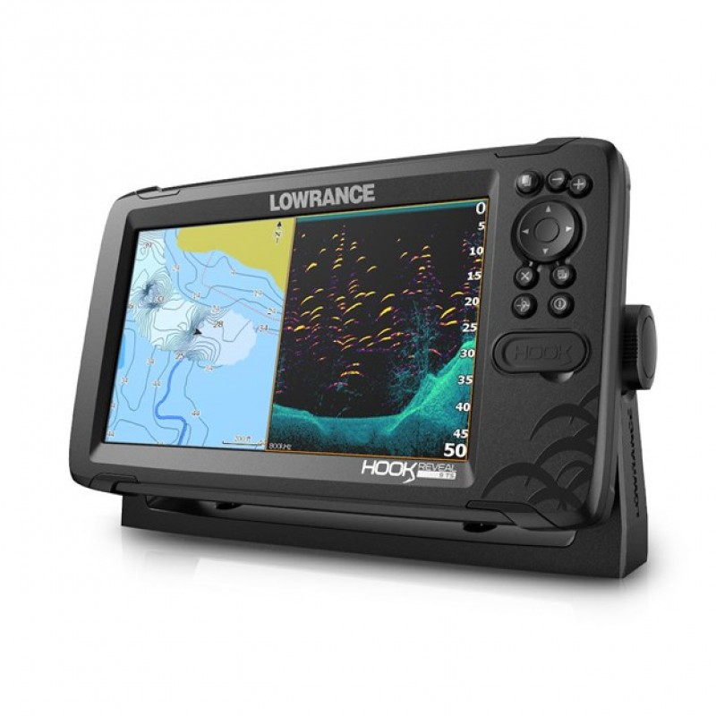 LOWRANCE HOOK REVEAL 9 50/200 GPS/HALRADAR PLOTTER 50/200, 455/800 KHZ-ES, LEFELÉ PÁSZTÁZÓ HDI JELAD