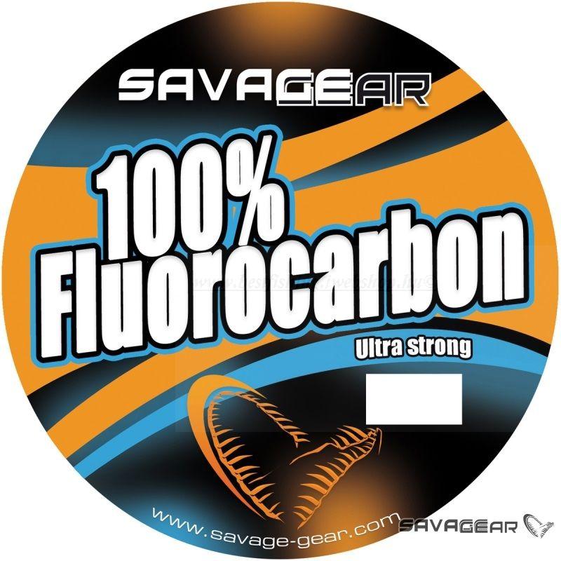 SavageGear 100% Fluoro Carbon Közepesen lágy Zsinór-0,39mm-9,4kg-35m VIL��G��T��PATRONOS ��SZ��K