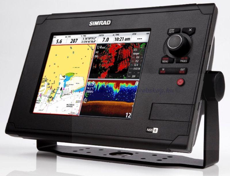 GPS, Térképplotter Simrad NSS8 érintőképernyős multifunkciós kijelző GPS-TÉRKÉP