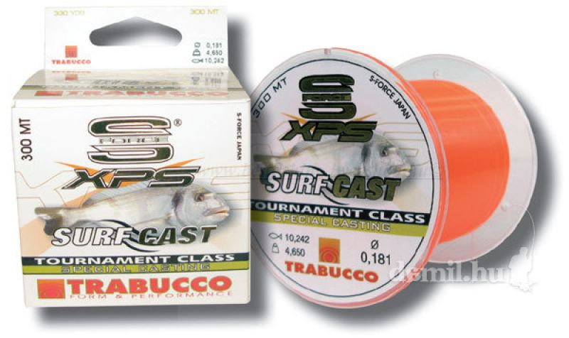 Trabucco S-FORCE XPS SURF CAST, 0,30mm, 300m MONOFIL ZSINÓROK