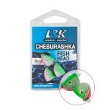 L&K CHEBURASHKA FISH HEAD 8G-JIG HEAD