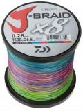 DAIWA J-BRAID X8 0,18MM-1500M MULTI COLOR