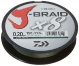 DAIWA J-BRAID X8 0,06MM-150M SÖTÉTZÖLD