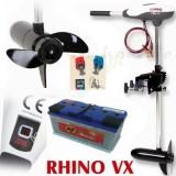 Elektromos csónakmotor Rhino E-motor VX-54 + Banner 100 A/h munkaakku + 1 pár gyorscsatlakozó