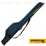 SPORTEX SUPER-SAFE HARD SHELL BAG FOR CARP RODS -BOTZSÁK 2 DB FELSZERELT BOTHOZ 218CM