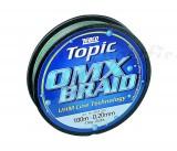 Zebco Topic OMX fonott, zöld 0.28mm,100m