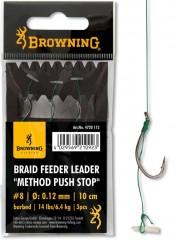 BROWNING BRAID FEEDER LEADER CARLIG FEEDER 6 0,12MM-CARLIG FEEDER
