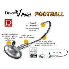 JIGHEAD  DRAGON V-POINT FOOTBALL MÉRET: 1/0-5G JIG FEJ
