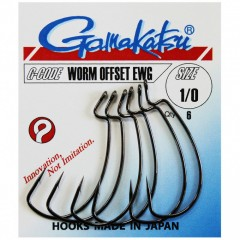 GAMAKATSU Worm Offset 2    6/cs. DROP SHOT HOROG