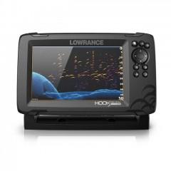 LOWRANCE HOOK REVEAL 5 GPS/HALRADAR PLOTTER 83/200 455/800 KHZ HDI LEFELÉ PÁSZTÁZÓ JELADÓVAL LOWRANCE